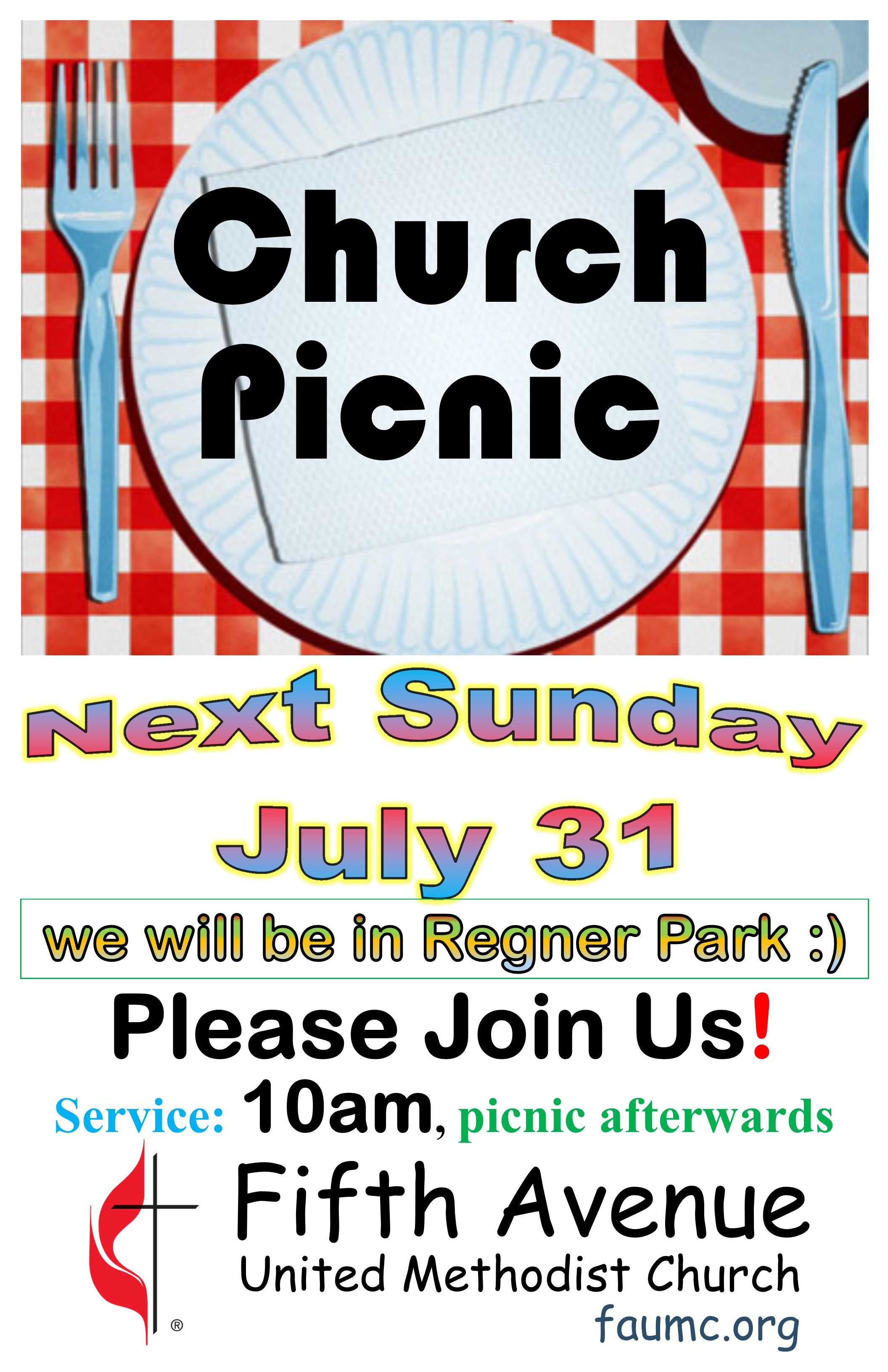 Church Picnic And Outdoor Service Fifth Avenue United